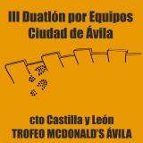 III Duatlón por Equipos Ciudad de Ávila 2018